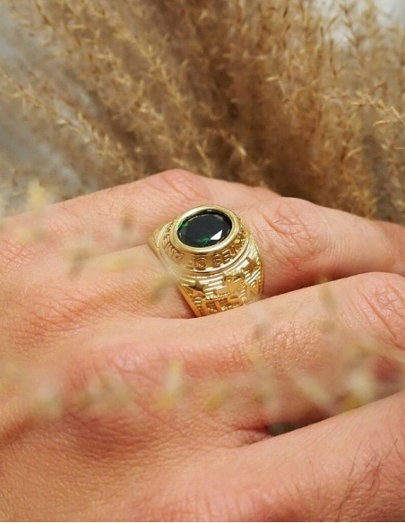 Bague americaine or 18 carats