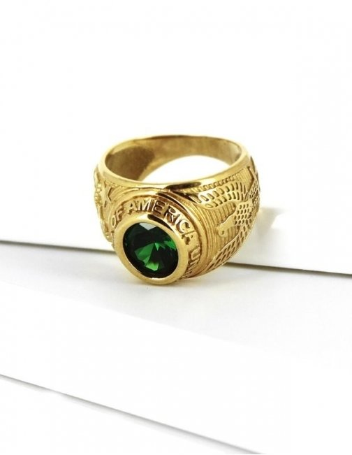 Bague americaine or