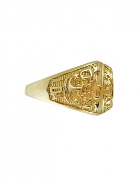 Bague americaine or 9k