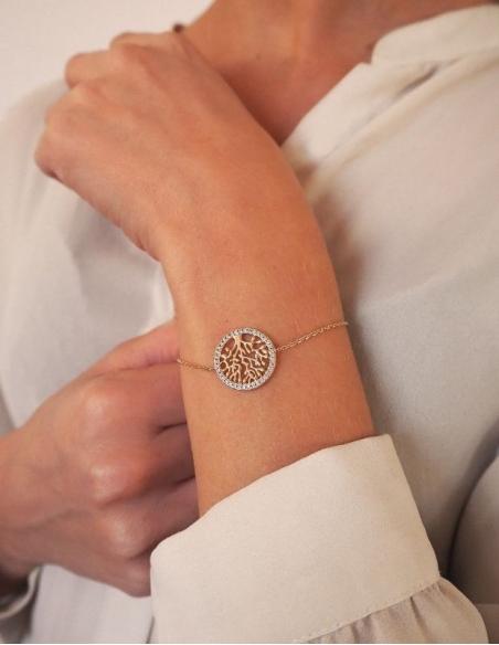 Bracelet arbre de vie fantaisie doré