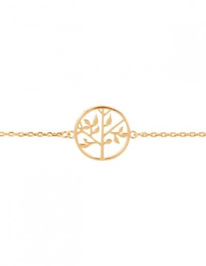 Bracelet arbre de vie en plaqué or
