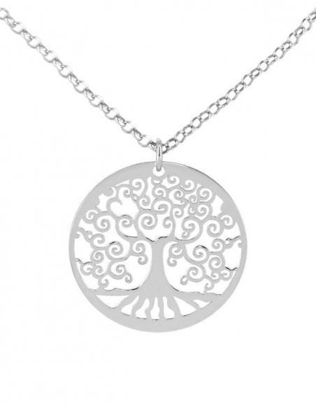 Collier arbre de vie en argent maman