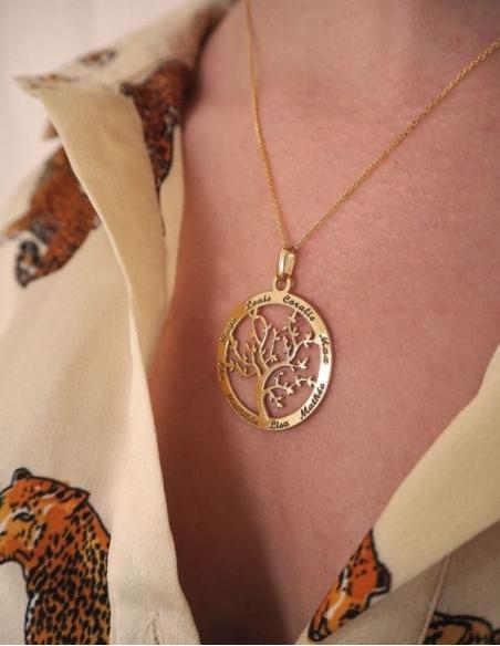 Collier arbre de vie en or femme