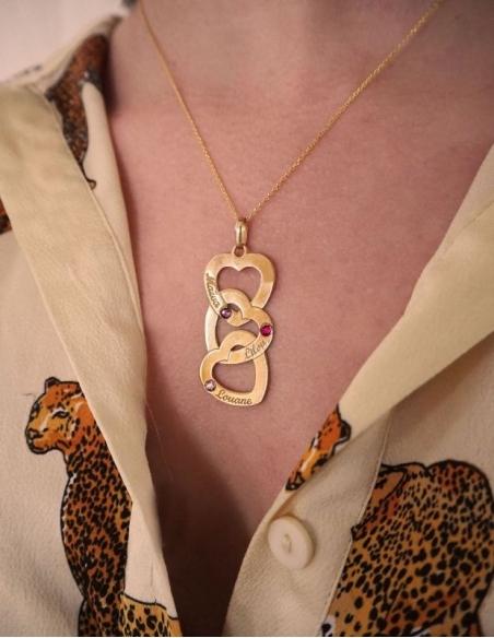 Collier coeur personnalisé en or