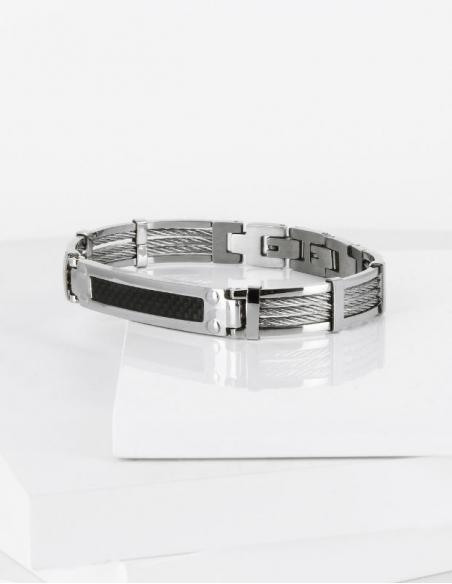 Bracelet homme acier marin