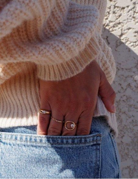 Bague pour petit doigt femme plaqué or