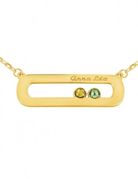 Collier prénom personnalisé en or