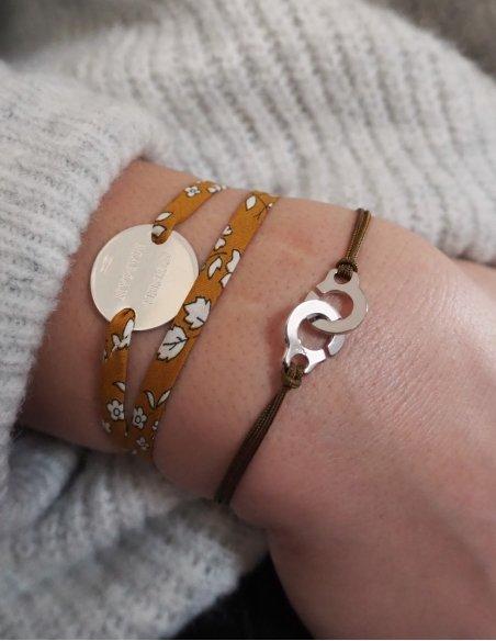 Bracelet cordon femme argent