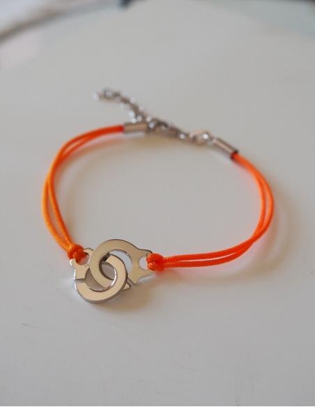 Bracelet cordon avec menottes