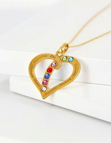 Collier prénom coeur or personnalisable