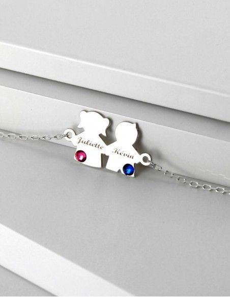 Bracelet pendentif enfant argent