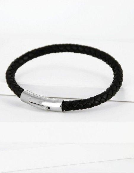 Bracelet cuir tressé homme