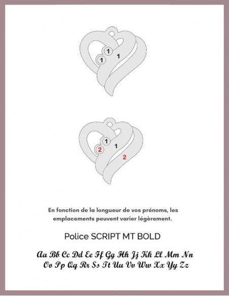 Bracelet coeur argent personnalisé