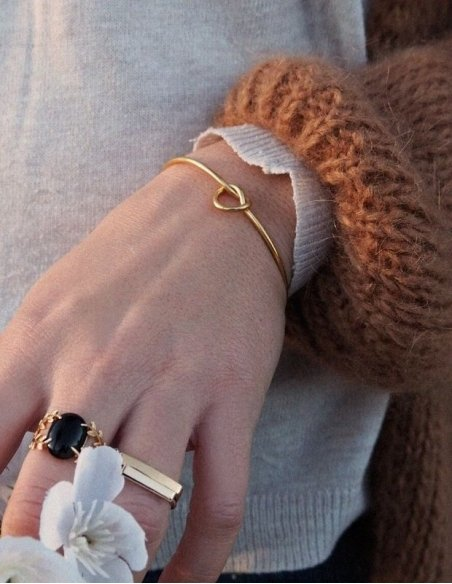 bracelet jonc acier femme